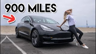 Download Taking A Tesla Model 3 On A 900 MILE Road Trip Video