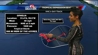 Download Tracking the Tropics for Oct. 9, 2017: Tropical Storm Ophelia forms Video