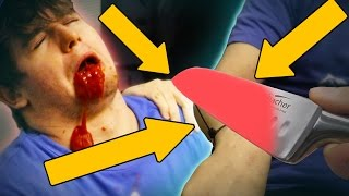 Download EXPERIMENT Glowing 1000 degree KNIFE VS HUMAN ARM *BLOOD WARNING* Video