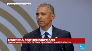 Download REPLAY - Former US president Barack Obama honours Nelson Mandela on the centerary of his birth Video