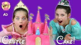 Download DISNEY PRINCESS CASTLE CAKE! Rainbow Surprise inside! Ariel, Sleeping Beauty, Snow White Video