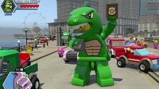 Download LEGO City Undercover - Super Minifigure Cheat Unlocked (100%) + 450 Gold Brick Stud Fountain Video