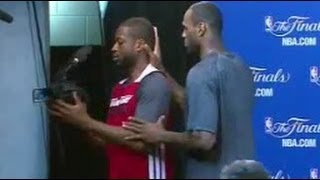 Download LeBron James Films Dwyane Wade During An Interview Video