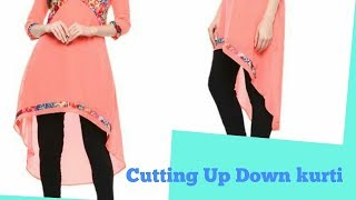 Download Latest Up Down Kurti Cutting | EASY METHOD Video