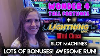 Download LOTS OF BONUSES! AWESOME RUN! Lightning Link Wild Chuco Slot Machine!! Video