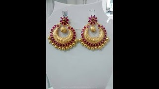 Download Latest gold earrings designs with weight | gold jhumkas designs Video