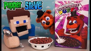 Download Five Nights at Freddy's Cereal NIGHTMARE PUFFS FnaF Freddy Plush FYE Exclusive Funko Unboxing Review Video