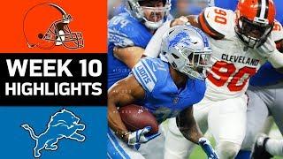Download Browns vs. Lions | NFL Week 10 Game Highlights Video