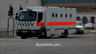 Download Armed Police Escort Convoy at Leeds District Police HQ Video