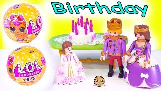 Download LOL Surprise Pets ! Playmobil Princess Birthday Party Blind Bag Gifts - Toy Video Video