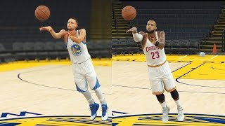 Download Who Can Make a Half Court Shot First in the NBA? Curry, LeBron, Durant, Kyrie, Westbrook? NBA 2K17 Video