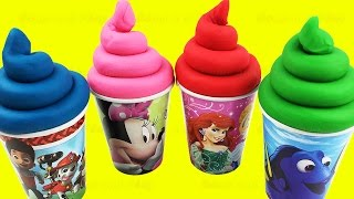 Download Play Doh Ice Cream Surprise Toys Finding Dory Pooh My Little Pony Hello Kitty Eggs Learn Colors Video