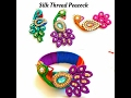 Download How To Make Silk Thread Peacock |For silk thread bangles\pendants|Quilling paper base Video