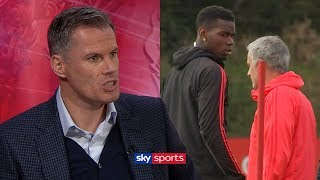 Download Jamie Carragher slams Paul Pogba after bust-up with Jose Mourinho Video