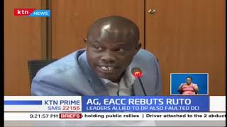 Download EACC, AG Paul Kihara Kariuki tell off DP Ruto's allies over graft investigations Video