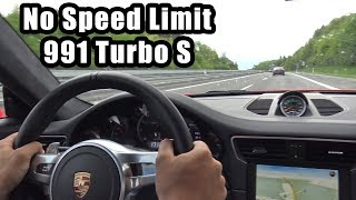 Download 780HP Porsche 991 Turbo S PP-Performance - Autobahn, Revs, Accelerations! Video