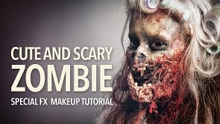 Download Cute and scary zombie special fx makeup tutorial Video