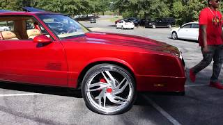Download G Body Chevy Monte Carlo SS on Rucci Forged Wheels at Mlk Park Video