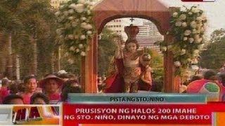 Download BT: Prusisyon ng halos 200 imahe ng Sto Niño sa Roxas Blvd., dinayo ng mga deboto Video