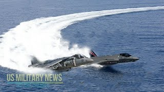 Download Incredible: F-35B vs AV-8B Harrier II Short Takeoff & Vertical Landing Video