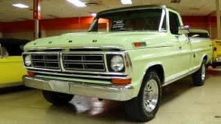 Download Awesome 1972 Ford F250 Sport Custom 360 V8 Restored Classic Pickup Truck Video