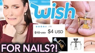 Download Testing Nail Products from Wish Nails Remove Toes Hollow Nail Polish Peel-off Nails Wish Buy Now Video