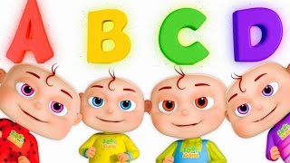 Download Five Little Babies Opening Surprise Eggs   ABC For Children   Phonics Song By Zool Babies Video