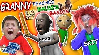 Download GRANNY the SCHOOL TEACHER! BALDI'S BASICS vs CRINGE TEACHER & FORTNITE (FGTEEV Skit) Video