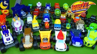 Download LOTS of Blaze and the Monster Machines Toys Diecast Race Cars Wild Wheels Animals Crusher Pickle Toy Video