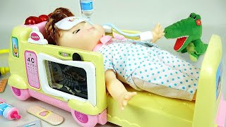 Download Ambulance baby doll and Doctor toys play Video