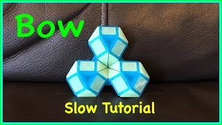 Download Smiggle Snake Puzzle or Rubik's Twist Tutorial: How To Make a Bow or Flower SLOW Step by Step Video