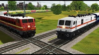 Download Two trains crossing each other at India's Famous Diamond Crossing | Indian Railways Video