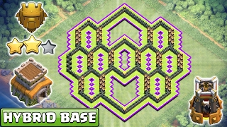 Download NEW! Town Hall 8 TH8 Hybrid Base ♦ TH8 Hybrid Base 2017 ♦ Anti 2 Star, Anti Everything ♦ COC Video
