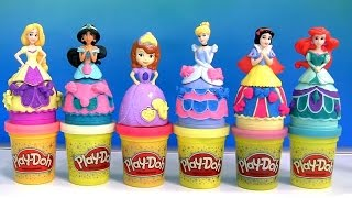 Download Massinhas Play Doh com Glitter Princesas Branca de Neve e Sofia TOYSBR | Play Doh Sparkle Magiclip Video