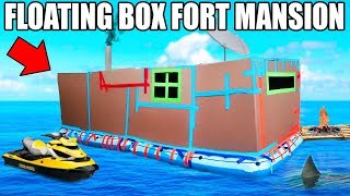 Download 24 HOUR BOX FORT BOAT MANSION CHALLENGE!! 📦💧SEADOO, GAMING ROOM, FIREPLACE & MORE! Video