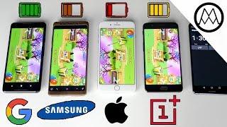 Download Google Pixel 2 XL vs Galaxy Note 8 vs iPhone 8 Plus- Battery Life Drain Test Video
