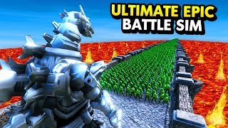 Download MECHA GODZILLA vs 10,000 ZOMBIES ON BRIDGE (Ultimate Epic Battle Simulator / UEBS Funny Gameplay) Video