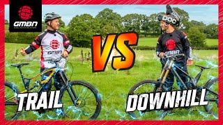 Download Trail Bike Vs Downhill Mountain Bike | The Challenges Video
