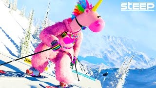 Download STEEP: Epic Jumps Stunts & Fails - Steep Wingsuit, Skying & Snowboarding Steep Multiplayer Gameplay Video