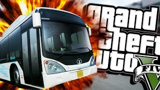 Download HAIL TO THE BUS DRIVER (Moon gravity) | Grand Theft Auto V (Next Gen Gameplay) #4 Video