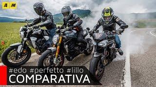 Download Ducati Monster 1200S vs. Honda CB1000R vs. Triumph Speed Triple [ENGLISH SUB] Video