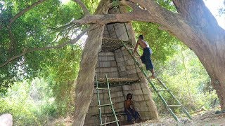 Download three-storey house Using bamboo and grass Video