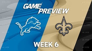 Download Detroit Lions vs. New Orleans Saints | Week 6 Game Preview | NFL Playbook Video
