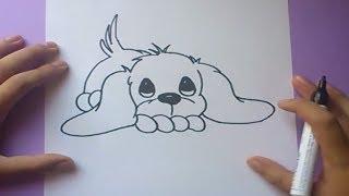 Download Como dibujar un perro paso a paso 3   How to draw a dog 3 Video