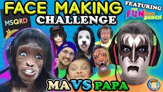 Download MSQRD Face Making Challenge w/ FUNkee Bunch! (Funny Face Swap App Game w/ FUNnel Vision Ma & Papa) Video