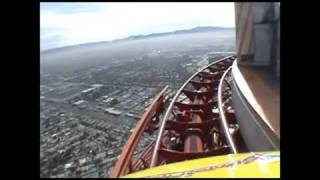 Download High Roller Roller Coaster POV Stratosphere Tower Las Vegas Closed Video