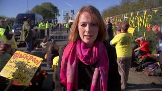 Download Angry protests as fracking starts again in Lancashire - 5 News Video
