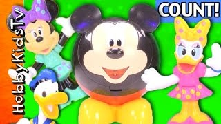 Download Count Numbers Colors With Mickey Donald Minnie Daisy + Disney Choco SURPRISE Egg by HobbyKidsTV Video
