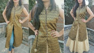 Download Stylish brocade kurti with front slit Video