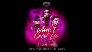 Download Dimitri Vegas & Like Mike ft. Wiz Khalifa - When I Grow Up (Sikdope Remix) Video